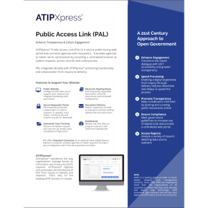 Fact Sheet: ATIPXpress Public Access Link (PAL)